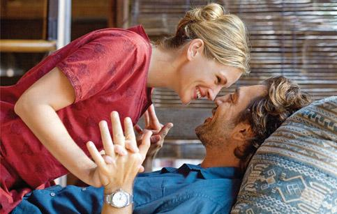 Hitched: Bardem plays Roberts' lover in Eat Pray Love.