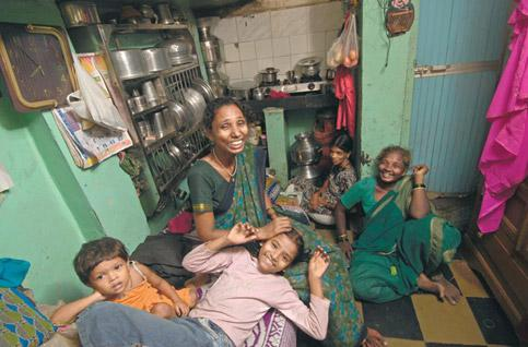 Empowered: Sheetal (second from left) with her mother Lakshmi (centre) and grandmother Hanumanthi. Abhijit Bhatlekar/Mint