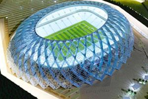 Birdcage: A model of Qatar's showpiece stadium for their 2022 World Cup bid. Reuters