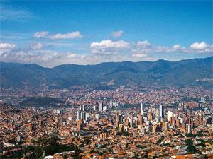 Bird's-eye view: Present-day Medellín has no signs of its violent past. Jduquetr
