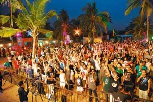It's electric: The crowd at the Sunburn festival in 2009