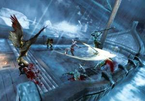Bloodletting: As usual, Kratos bludgeons his way through the world in Ghost of Sparta