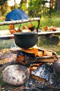 Hi-tech: Camping is more than just pitching a tent.