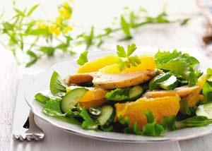 Citrus chicken: Although commonly used in desserts, the orange is also a great salad ingredient.