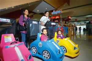 Special emphasis: Perambulators at Inorbit mall in Mumbai. These form just one of the facilities--from baby care and feeding rooms to prepaid autorickshaws--that malls in different cities are offering