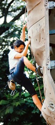 Up the wall: Chea Amelia Marak scaling the wall at the Kanteerava Stadium, Bangalore. Aniruddha Chowdhury/Mint