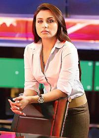 On the go: Rani Mukerji's fearless act is far from reality.