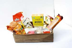 Assorted goods: Health Rush offers a range of whole grains, nuts and seeds.