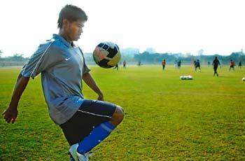 Young talent: Abhishek Das, now an AIFF XI right back, has no regrets about leaving the East Bengal club.