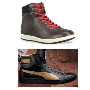 Timberland: (Top) High-top sneakers from the Earthkeepers range, Rs6,490 .Puma: (Below)First Round sneakers,can be worn high or low,Rs8,500.