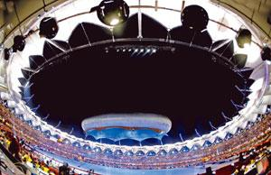 Centrepiece: A view of the Jawaharlal Nehru Stadium during the closing ceremony of the 2010 Commonwealth Games in New Delhi.