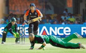 Turning the tables: Ireland defeated England by 3 wickets in Bangalore on Wednesday.