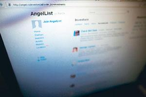 Social link: A screenshot of AngelList's website.