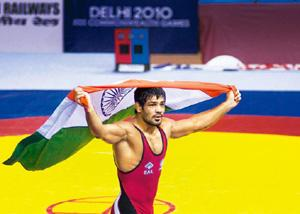 Top draw: Sushil Kumar would be a leading attraction if he participates in the wrestling league.