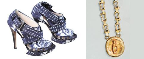Wardrobe staples: (from left) Shoes by Nicholas Kirkwood; Parikh's only pieces of chunky jewellery. Kedar Bhat/Mint