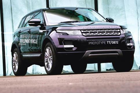 Key driver: The soon-to-be launched Range Rover Evoque features a 2.2-litre diesel engine as an option.