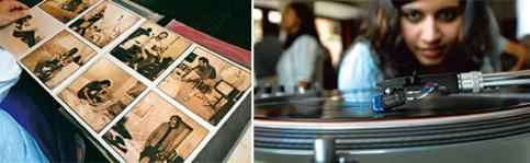 Spinning jenny:(from left) The sleeve of a vintage LP and a record enthusiast at Microgroove. Photographs by Abhijit Bhatlekar / Mint