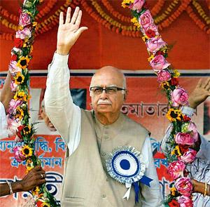 Lashing out: Advani's language lacks the measured tone that sets a leader apart. PTI
