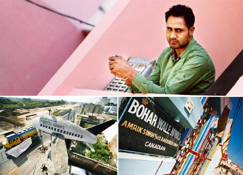Thriving industry: (clockwise, from top) Gary Singh was held for ransom for two months in the Philippines; in Punjab's Doaba region, some houses have brass plaques on the walls indicating where the ow