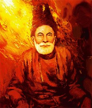 Poetic wit: Ghalib was the rare great poet who could laugh at himself, Painting by Shubnum Gill/Flickr.com/photos/shubnumgill