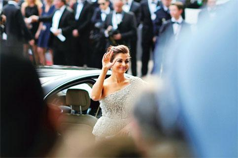 Aishwarya Rai Bachchan in an Elie Saab gown at this year's Cannes film festival as the brand ambassador of L'Oreal.