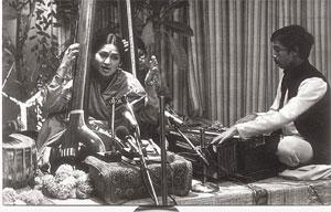 Low notes: Dholpuri (right) with Mudgal. Courtesy Avinash Pasricha