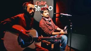 Across the Indus: Naeem Shah (left) and Saif Samejo of The Sketches perform on Coke Studio. Photo: Courtesy Coke Studio