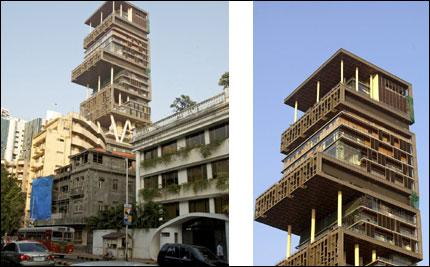 Antilia Tower, the residence of Mukesh Ambani, chairman of Reliance Industries Ltd. (File photo / Bloomberg)