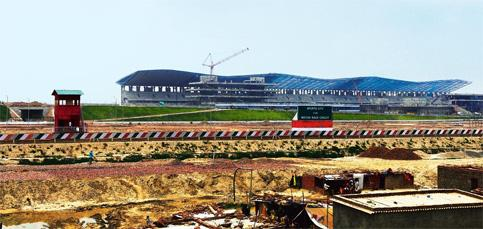Circuit countdown: The Formula One track, currently under construction, in Greater Noida. Photograph by: Ramesh Pathania/Mint