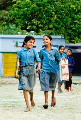 Onward: Since the 1990s, school attendance rates have soared in India, a sign of new aspirations. Priyanka Parashar/Mint