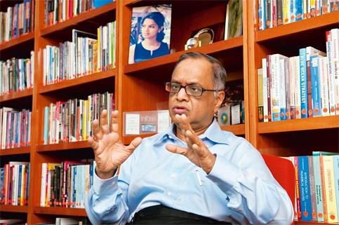 New role: N.R. Narayana Murthy stepped down as chairman of Infosys on Friday. He will now be chairman emeritus of the firm.Photo Aniruddha Chowdhury/Mint