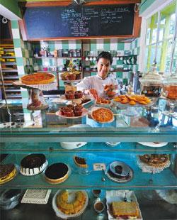 The 'propah' touch: Chef Shelly Sahay at Elma's cake counter. Priyanka Parashar/Mint