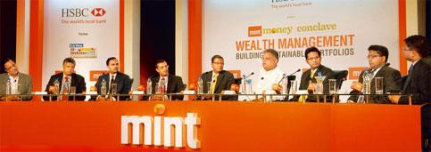 Power talk: Panellists at the Mint Money conclave on Wealth Management: Building Sustainable Portfolios, in Mumbai on Wednesday. Photograph by Hemant Mishra/Mint