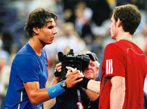 No dream world: Rafael Nadal (left) and Andy Murray after Nadal won their US Open 2011 semi-final match. Photo  by Al Bello/Getty Images/AFP