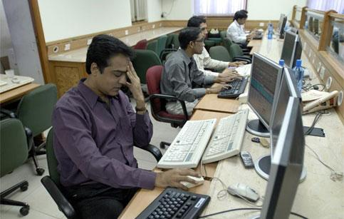 A sub-broker at one of the brokerage firm near BSE in a bad mood.