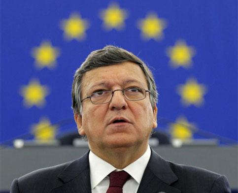 European Commission president Jose Manuel Barroso addresses the European Parliament during a debate on the state of the EU in Strasbourg. Photo: Reuters