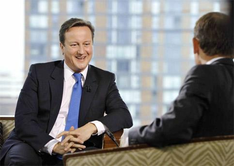 Britain's PM DavidCameron Speaks On The Bbc's Andrew Marr Show, In Manchester. (Photo Reuters)