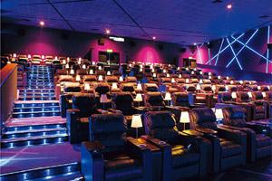Luxury flight: The auditoriums simulate airline business-class service.