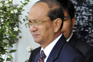 File photo of Myanmar's civilian President U. Thein Sein. Photo by Bloomberg.