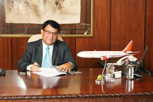 Small steps: Nandan expects a reworked winter flight schedule to lead to a saving of at least Rs 220 crore.
