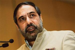 Damage control: Anand Sharma at a press conference on Thursday. Photo: Satish Kaushik/Mint