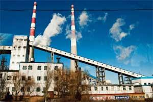 Chugging along: A file photo of a power station in Datong, Shanxi Province, China. Industrial production increased 13.8% in September from a year earlier. Bloomberg