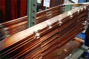 Copper bars during the manufacture of dynamo units (File photo Bloomberg)