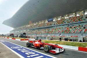 Grandstand: The Buddh International Circuit, Greater Noida. By Vivek Prakash/Reuters