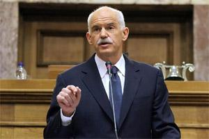 Greek Prime Minister GeorgePapandreou . AFP