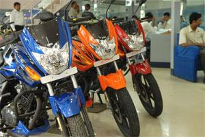 TVS bike's showroom in Bangalore. Photo: Hemant Mishra/Mint.