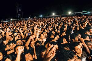 Fans at the Metallica concert on 30 October. By Anantha Subramanyam