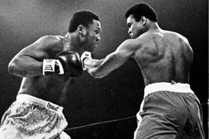 Stings like a bee: Muhammad Ali (right) won two of his three fights with Joe Frazier. By Larry Morris/The New York Times