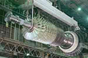 A Mitsubishi Heavy Industries Ltd.'s gas turbine. Photo: Bloomberg