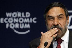 Commerce and industry minister Anand Sharma attends the opening plenary session of the World Economic Forum (WEF) India Economic Summit in Mumbai. (Reuters photo)